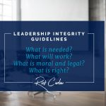 Leading with Integrity: 4 Defining Questions