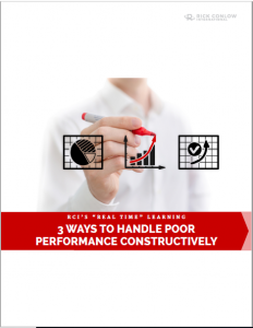 3 Ways to Handle Poor Performance Constructively