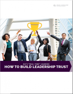 How to build leadership trust rick conlow