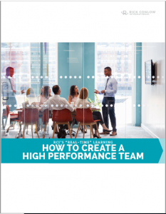 How to create a high performance team rick conlow