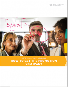 How to Get the Promotion you Want Rick Conlow
