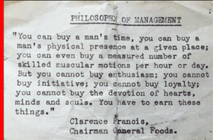 "The Philosophy of Management: ""Earn"" these Things!"
